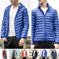 NEW Mens Winter Ultralight Hoody Hooded/Collar 90Down Jacket Warm Puffer Coat