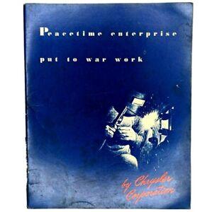 1942 WWII Chrysler Dodge War Efforts Booklet Factory Photos Art Deco Art Vtg 3S