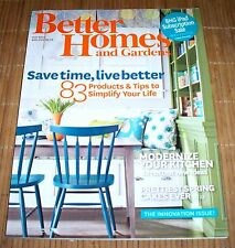 Better Homes and Gardens Magazine May 2014 Innovation Issue Spring Summer Recipe