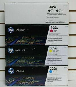 Genuine HP 305A/X (CE401X CE411A>CE413A) SET OF 4 TONER CARTRIDGE SEALED NEW!