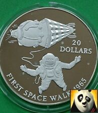 1993 KIRIBATI $20 Dollars First Space Walk Space Exploration Silver Proof Coin