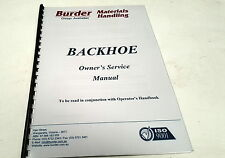 BURDER TITAN BACKHOE  Owners Manual