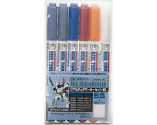 Mr.Hobby GMS112 Gundam Marker Real Touch Marker Set 1 (6 colori) modellismo