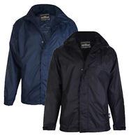 Mens KAM Waterproof Smart Classic Performance Jacket Coat Black Big Size 2-8XL