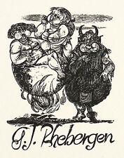 KARL-GEORG HIRSCH - Exlibris G. Jan Rhebergen - Holzstich 1966