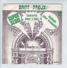 """SAINT PREUX Disque 45T 7"""" SP CONCERTO POUR 1 VOIX -ANDANTE .. TROMPETTE Thibaud"""