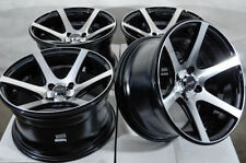 15x8 Black Wheels Rims Fit Aveo Cobalt Spark Civic Accord Accent Cooper Corolla