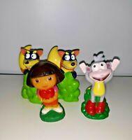 Dora the Explorer Figures Swiper Dora and Boots Hollow PVC Lot of 4            B