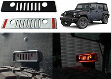 Jeep Grill Logo Third Brake Light Cover For 2007-2017 Wrangler New Free Shipping