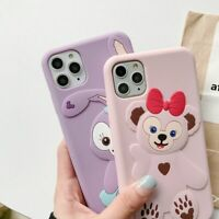 Cute Pink Cartoon Bear Lovely Rabbit Phone Case Cover For iPhone 11 Pro Max XR 7