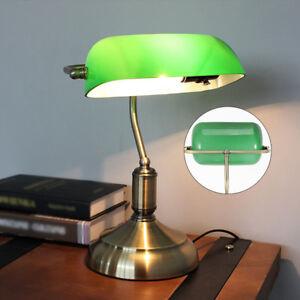 Tischleuchte Tischlampe Antik Schreibtischlampe Beleuchtung Banker Lampe DHL
