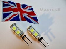 2 x G4 9SMD 5050 12Volt DC 0.8 Watt White LED Bulbs - Genuine UK Stock
