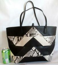 DESIGUAL Large Tote Shopper or Shoulder Bag - Black & White Reptile Pattern