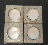 4x Teelichthalter Kerzenständer aus Beton á 6 x 6 x 6 cm Betonadventskranz