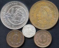 Mexico Lot 1984 20 Pesos 1956 50 Cent~ 1919 10 Cent~ 1903 & 1940 1 Cent~ Coins