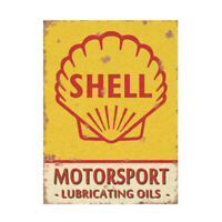 Vintage Shell Motorsport Advertising Garage Sign Classic Metal Shed Workshop