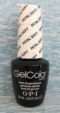 OPI GELCOLOR GC T64 PETAL SOFT Soft Shades pink & white glitter gel polish NEW
