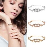 Luxury Women Chain Zircon Crystal Bangle Rhinestone Bracelet Wedding Jewellery