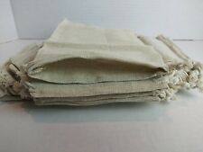 5 x 8 inches Linen Double Drawstring Muslin Bags (Natural Color) 25 Count