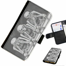 Peng03 4 Penguins Snow Printed Leather Wallet/flip Case Cover for Mobile Phone Samsung Galaxy Mega 2