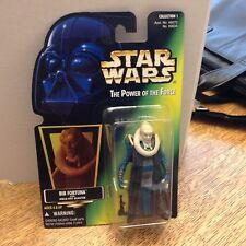 1996 Star Wars Power of the Force Bib Fortuna Action Figure  Green Card