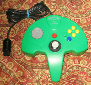 Nintendo 64 SuperPad N64 Performance Video Game Green Controller Tight Stick