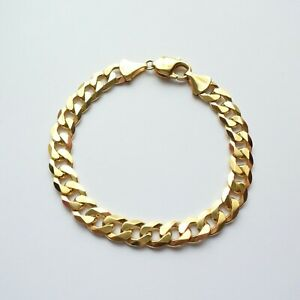 "Bracelet Chain 8"" Yellow Gold 9ct Men Boys Jewellery Heavyweight 23.6g"
