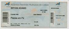 PORTUGAL BRYAN ADAMS TICKET 2005