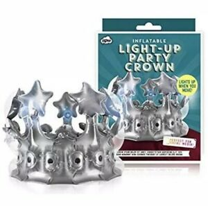 Inflatable Light-up Party Crown Silver - Lights Up As You Move