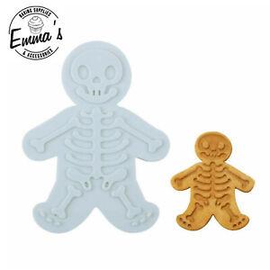 1Pcs Halloween Skeleton Cookie Cutter Plastic Gingerbread Biscuit Mold Fondant