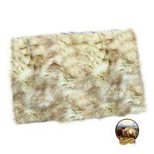 shag rug plush brown tip arctic fox fur rectangle area rug fur