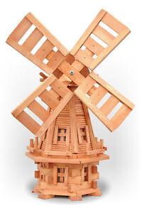 Garten Windmühle 100 cm Garten Deco Holz