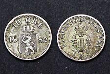 10 Ore 1882 Norvège. Argent. KM#350