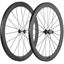 12K Matte Road Bike Wheelset 50mm Novatec 271 Hub Carbon Clincher Wheels 700C