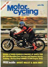 Motocycling Monthly Sep 1978 MZ250 Turbo Z1000 Kawasaki CX500 Hailwood XS1100