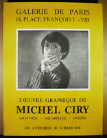 Manifesto Litografia Originale 1979 Stampa Idv Michel Ciry Galleria di Parigi Nh