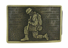 Wounded Warrior U.S. Miltary Bronze Metal Belt Buckle