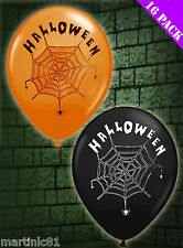 16 HALLOWEEN BALLOONS TRICK OR TREAT COBWEB BLOW UP FOR PARTIES PARTY SPOOKY DP