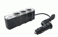 Triple prise pour la voiture - 3 allume-cigare + USB  Code article: 05210