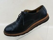 Cole Haan Mens Oxford Plain Toe Black Leather Lace Up Shoes Size 11M