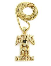 """ICED OUT LAST KING PENDANT & 36"""" FRANCO CHAIN."""