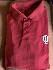 Iu Indiana Hoosiers Polo Golf Shirt by J America Mens Xl 100% Polyester
