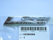 HOLDEN VF COMMODORE SS SSV REDLINE ' LS3 6.2 LITRE ' FRONT GRILLE BADGE GM NEW