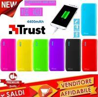 POWERBANK TRUST 4400 MAH Caricabatterie portatile + porta USB batteria integrata