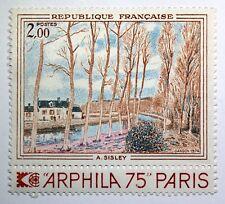 TIMBRE FRANCE 1974 - N° 1812 SISLEY  ART  TABLEAU  NEUF ** MNH B4