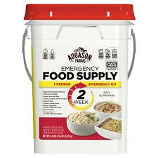 2-Week Emergency Food Supply Pail Storage 140 Servings Survival Ration Bucket