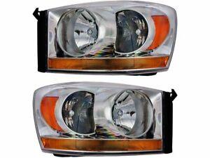 Headlight Assembly Set For 06-09 Dodge Ram 1500 2500 3500 WC74V6