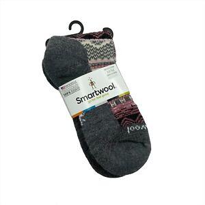 NWT Smartwool Wool Blend Dazzling Wonderland Crew Socks Gray Size Medium Holiday