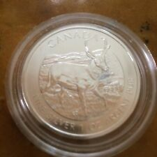 2013 1 oz *BU* Silver Antelope Canadian Wildlife Series $5 Canada Coin