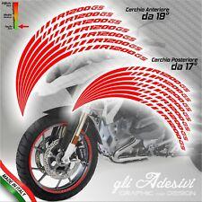 Set Adesivi Cerchi Moto Ruote BMW R 1200 GS Adventure con ricambi
